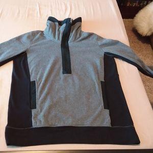 Lululemon Post Chaturanga Gray Black Fleece